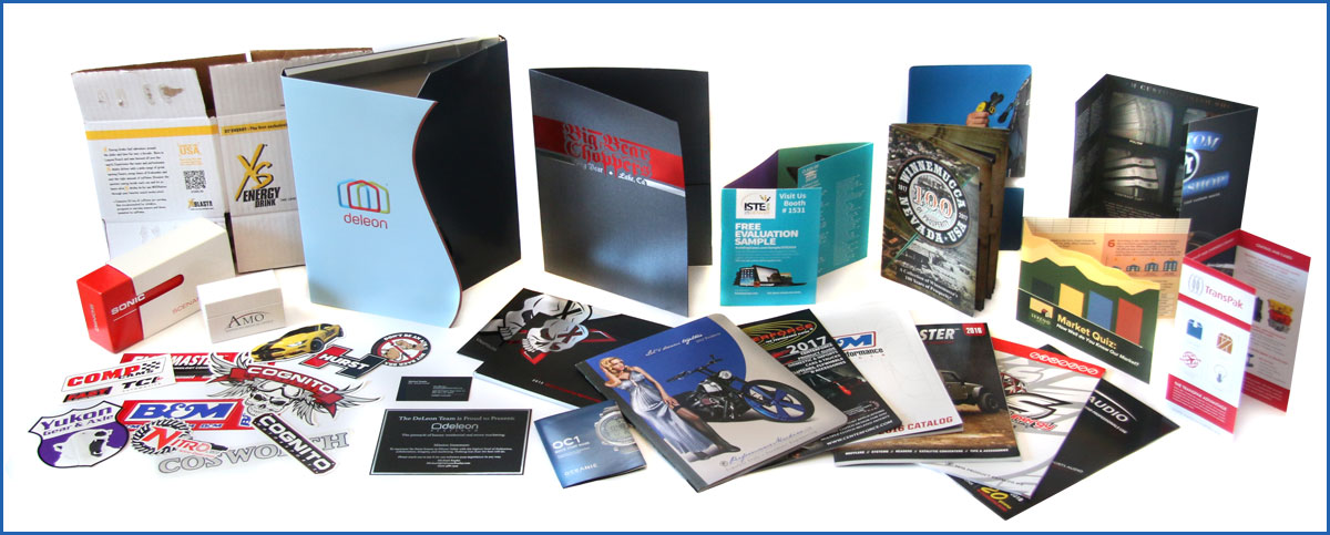 Custom Printing for Brochures, Flyers, Stickers, Apparel, etc